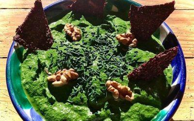 Pesto d'hiver aux épinards et à la spiruline