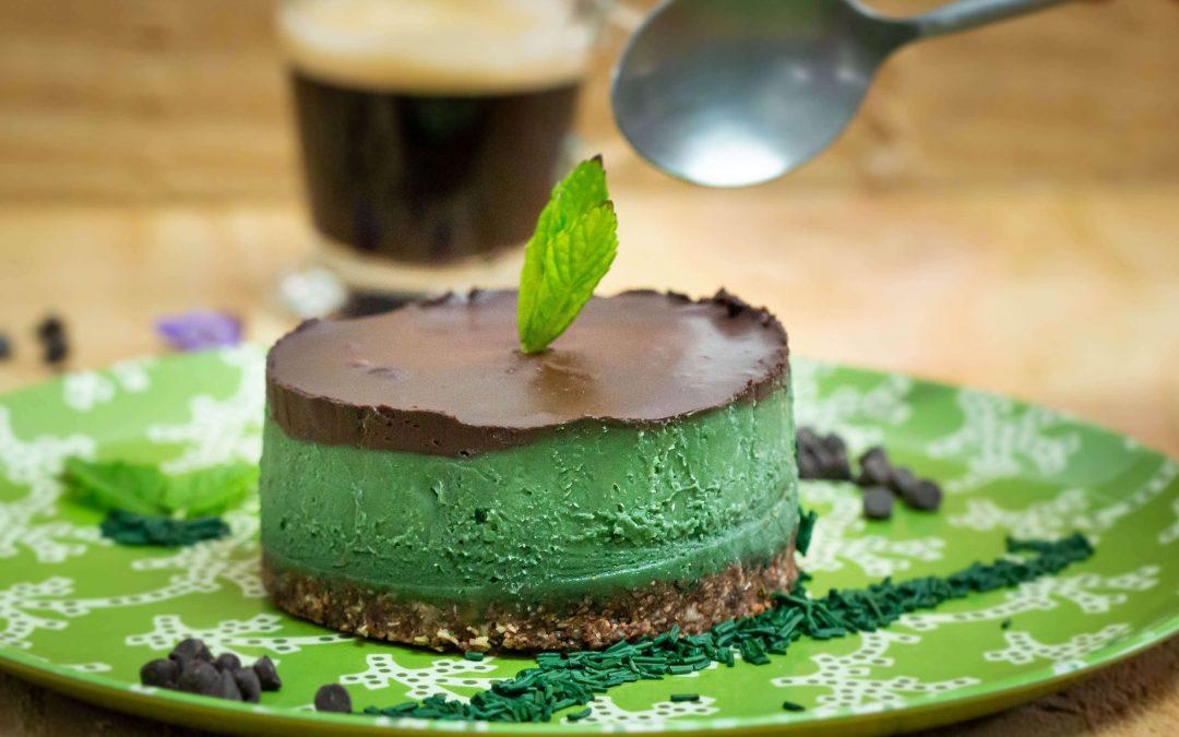 Gâteau menthe chocolat spiruline